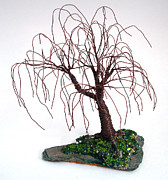 Instruction Originals - Willow on Slate - Wire Tree by Sal Villano