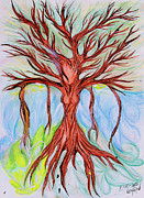Tree Roots Paintings - Willow Woman by Die Go Learn