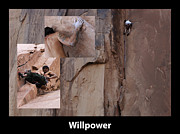 Sports Montage Posters - Willpower With Caption Poster by Bob Christopher