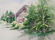Will's Cabin Print by Sally Simon