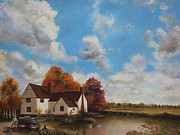 Constable Prints - Willy Lotts Cottage Print by Cecilia  Brendel