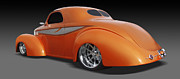 Orange Car Art - Willys by Mike McGlothlen