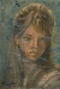Black Family Pastels - Wilma by John Robinson
