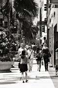 Expensive Prints - Wilshire Walkers Print by Ricky Barnard
