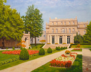 Hall Painting Prints - Wilson Hall Monmouth University Print by Joe Bergholm