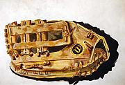 Baseball Glove Painting Framed Prints - Wilson Staff Pro Framed Print by Jame Hayes