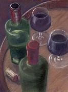 Barrel Pastels Prints - Wilson Wine Tasting Print by Ellen Minter