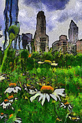 Chicago Digital Art Metal Prints - Wilting City Metal Print by Dancin Artworks