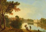 Sketching Framed Prints - Wilton House from the South-east Framed Print by Richard Wilson