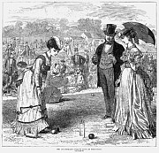 Wimbledon Photo Posters - Wimbledon: Croquet, 1870 Poster by Granger