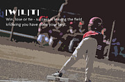 Baseball Field Digital Art Posters - Win Lose Tie 2a Poster by Peter  McIntosh