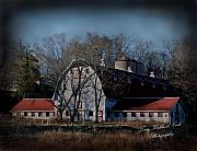 Historic Places Posters - Win Mock Barn Poster by Terry Kirkland Cook