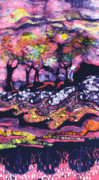 Pink Tapestries - Textiles Originals - Wind and Waves by Carol  Law Conklin