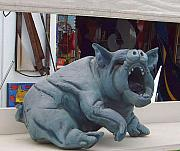 Clay Sculptures - Wind Breeds Cahos Number 2 Sitting Pig by Brian Somerville