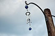 Wind Chimes Framed Prints - Wind Chime Visitor Framed Print by Ducky Studios