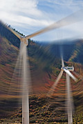 Generators Prints - Wind Farm 1 Print by Steve Ohlsen