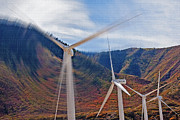 Generators Prints - Wind Farm 2 Print by Steve Ohlsen