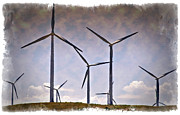 Conservation Art Framed Prints - Wind Farm III - IMPRESSIONS Framed Print by Ricky Barnard