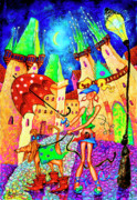 Prague Painting Framed Prints - Wind Framed Print by Inga Konstantinidou