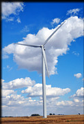 Indiana Autumn Posters - Wind Mill Poster by Brittany H