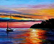 Yacht Painting Originals - Wind Of Hope by Leonid Afremov