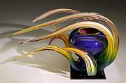 Featured Glass Art Originals - Wind Series 2007 by Randy Strong