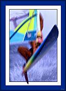 Wind Surfing Framed Prints - Wind Surfing Framed Print by Jeff Breiman