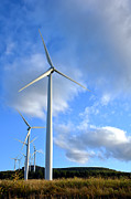 Renewable Framed Prints - Wind Turbine Farm Framed Print by Olivier Le Queinec