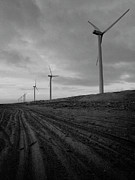 Wind Turbine Photos - Wind Turbine Plant On Beach by KUJIRAI kentaro