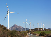 Casares Metal Prints - Wind Turbines, Andalusia, Southern Spain Metal Print by Ken Welsh