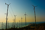Production Photo Originals - Wind turbines farm  by Phalakon Jaisangat