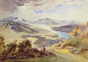 1826 Prints - Windermere from Ormot Head Print by William Turner