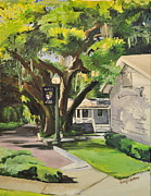 Streetscape Paintings - Windermere Police Station by Kimberly Beltrame
