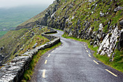 Mountain Road Posters - Winding Coastal Road On Dingle Peninsula Poster by Jorg Greuel
