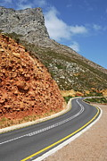 Winding Costal Road Between Gordon's Bay And Betty's Bay Print by Sami Sarkis