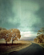 Curvy Road Prints - Winding Country Road in Infrared Print by Jill Battaglia