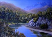 Landscapes Reliefs - Winding River by John Cocoris