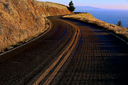 Asphalt Framed Prints - Winding road Framed Print by Garry Gay