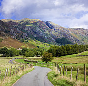 Langdale Prints - Winding Road, Langdale Valley, English Lake District, UK Print by Jon Boyes