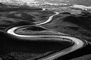 Black And White Rural Photography Prints - Winding Road Print by Photos by R A Kearton
