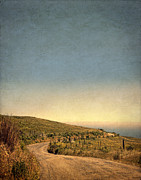 Curvy Road Prints - Winding Road to the Sea Print by Jill Battaglia