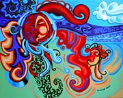 Winding Sun Print by Genevieve Esson
