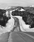 Cold Temperature Art - Winding Winter Roads by Peter Bowers