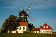 Malmo Digital Art Prints - Windmill - Sweden Print by Joshua Benk