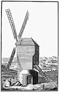 18th Century Prints - WINDMILL, 18th CENTURY Print by Granger