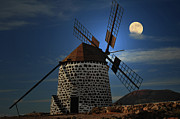 Power Prints - Windmill Against Sky Print by Ernie Watchorn