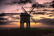 Alternative Energy Framed Prints - Windmill At Dusk Framed Print by Christopher Gandy