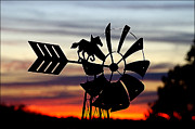 Shirley Tinkham - Windmill at Sunset