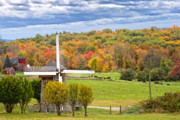 New England Fall Foliage Prints - Windmill Print by Bill  Wakeley