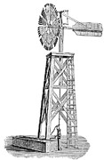 Halladay Prints - WINDMILL, c1880 Print by Granger